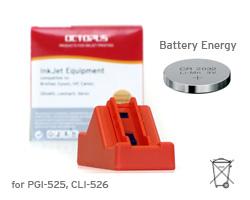 Chip Resetter per Canon PGI-525, CLI-526, IP 4850, MG 6150 con batteria