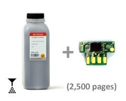 Toner per Lexmark C 540, 543, 544, 546, X 543, 544, 546, 548 nero con chip