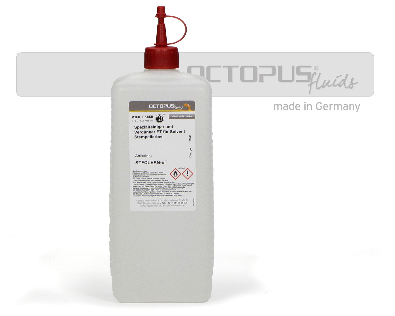 Reiniger und Verdünner für Solvent Tinten und Stempelfarben