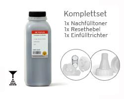 Kit con  polvere di toner per Brother TN-3380, Leva Reset e imbuto