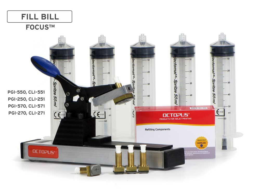 Fill Bill FOCUS™ CP550 per Canon PGI-550, 570, 580, CLI-551, 571, 581