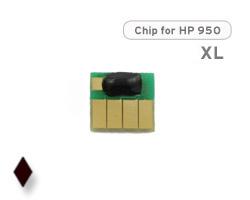 Chip für HP 950 XL, CN045AE Druckerpatrone schwarz