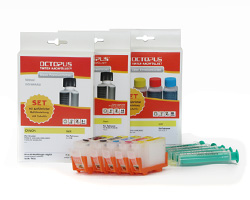 Refillable Ink Cartridges (Kit) for Canon PGI-5, CLI-8 with Ink Refill Kits
