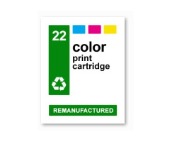 Cartridge labels for HP 22 waterproof