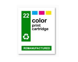 InkJet Labels, Klebeetiketten für HP 22 color, wasserfest