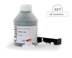 Refill Kit of refill toner and supplies for Brother TN 2110, TN 2120, HL 2140