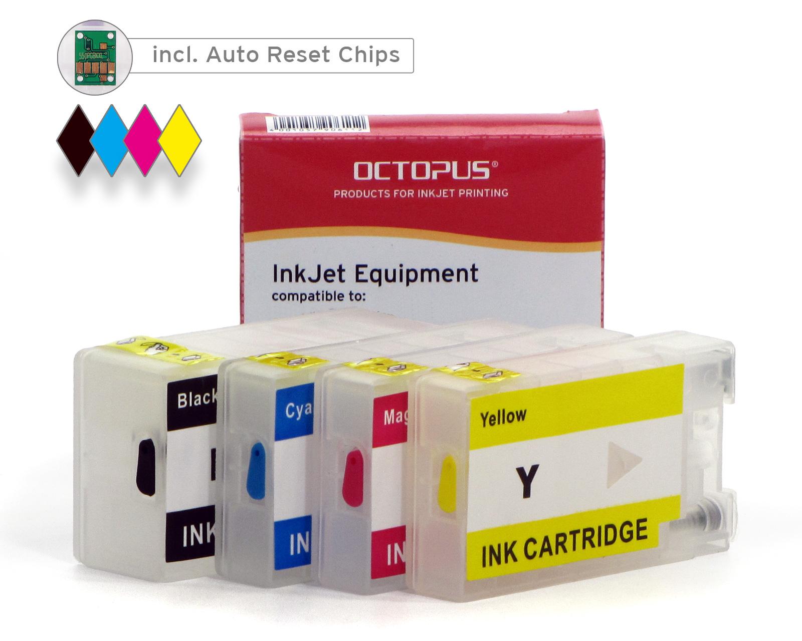 Cartucce ricaricabili Fill In per Canon PGI-1500, con chip