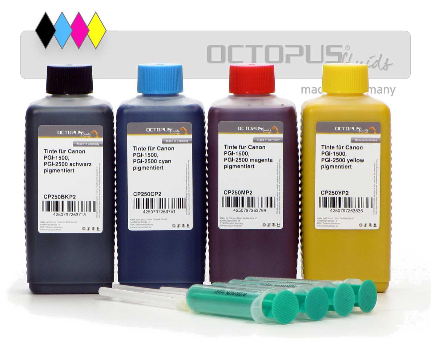 Kit di inchiostri di ricarica per cartucce Canon PGI-1500, PGI-2500 Maxify