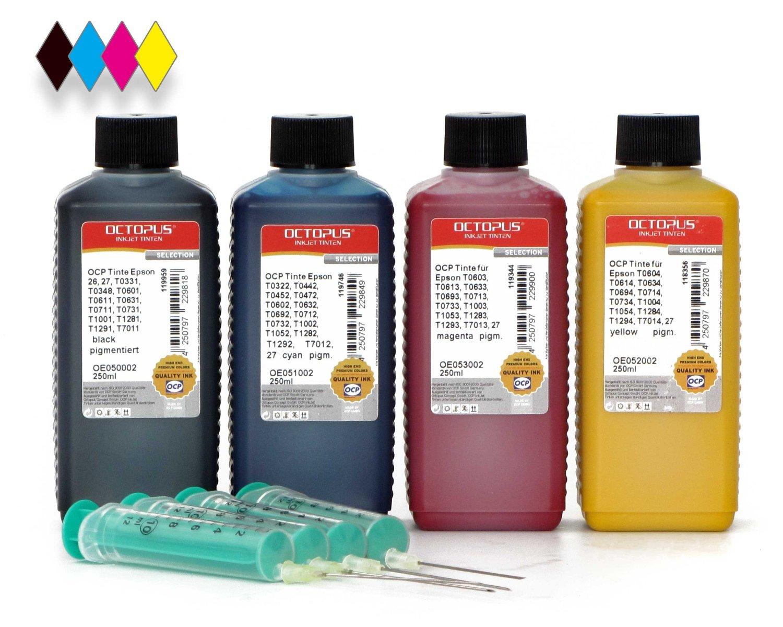 Kit di ricarica per cartucce Epson 27, 79, T07x, T128x, T129x, T701x completo di siringhe